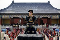 Feb. 10, 2013. A Chinese performer portraying the Emperor is seen during a recreation of the Sacrifice to Heaven ritual on the first day of the Lunar New Year, or Spring Festival, at the Temple of Heaven in Beijing.