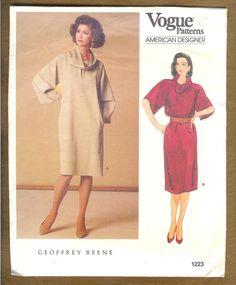 Vintage 1984 Vogue 1223 Geoffrey Beene Designer Dress by lucysbud, $12.50