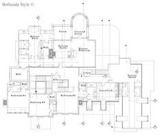 House Plans ~ Upper Floor Plan ~ by Sutton Yantis Associates