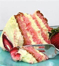 ♥♥ Strawberry Lemonade Layer Cake ♥♥