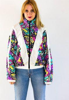 Vintage 90''S Festival Shell Jacket Windbreaker