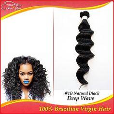sensational 100% Brazilian Virgin Hair Extensions shangkai Deep Loose wave 12-30inch cheapest 1bundle 100g Natural Color 1B# $17.50 - 54.50