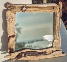 handmade driftwood mirror  κωδικός:17- 86 Driftwood Mirror, Sea Side, Fantasy, Handmade, Home Decor, Hand Made, Decoration Home, Room Decor, Fantasy Books