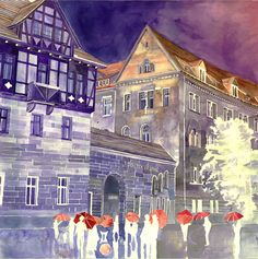 Amazing architectural watercolors by Maja Wronska