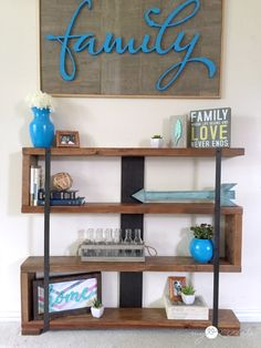I love this Rustic Industrial Narrow Bookshelf - My Repurposed Life™ http://www.myrepurposedlife.com/rustic-industrial-narrow-bookshelf/