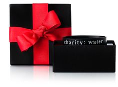 Charity: Water gifts.