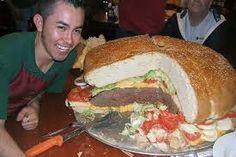 A giant hamburger!