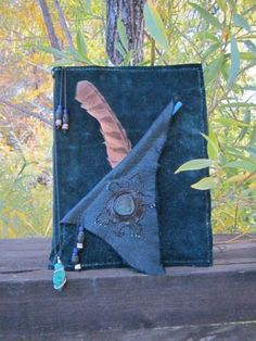 Handcrafted Leather Napooppeh Napusanaih ( Dream Journal, Sketch Book ) Teal by Newmoontarot for $100.00