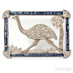 Whimsical Art Deco Brooch