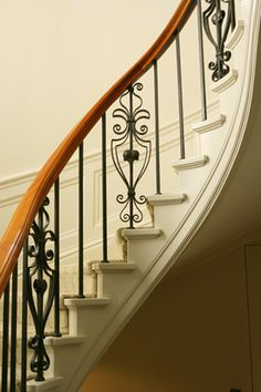 Beautiful Curved Stair Detail Wall Paneling Barade To