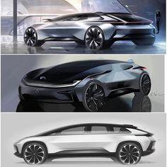 Faraday Future FF91 design sketches: Hanbin Youn, Richard Kim, Brian Oh ::