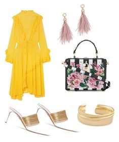 """""""sunny day is coming"""" by muguet07 on Polyvore featuring Aquazzura, Preen, Dolce&Gabbana, Kendra Scott and Lizzie Fortunato"""