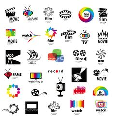 Logos Tv, Video, Photo, Film Stock Vector - Illustration of abstract, design: 32055826 Logo Tv, Film Logo, Art Logo, Corporate Logo Design, Jobs In Art, Illustration, Symbol Logo, Logo Design Inspiration, Vector Free