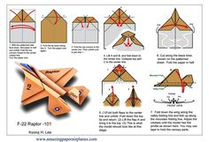 Read more about Origami Ideas Origami Plane, Instruções Origami, Paper Crafts Origami, Paper Crafting, Origami Butterfly, Paper Airplane Folding, Make A Paper Airplane, Paper Plane, Star Wars Origami