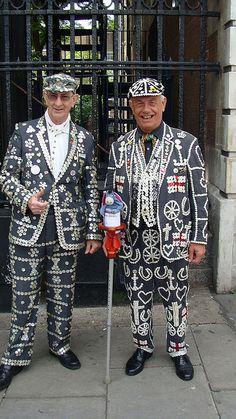 Pearly kings - Cockneys, the original people of London.
