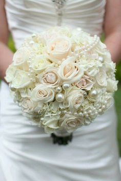 Maybe not with the huge pearls but i love the white flowers!
