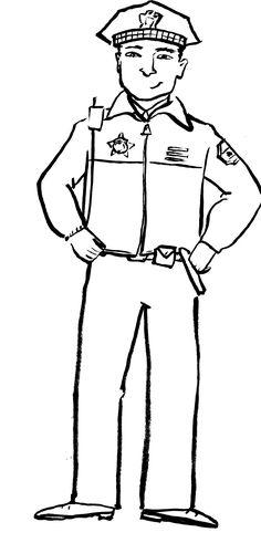 law enforcement coloring pages - photo#4