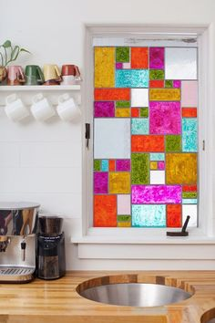 Best DIY Projects: How to make a faux stained glass panel!