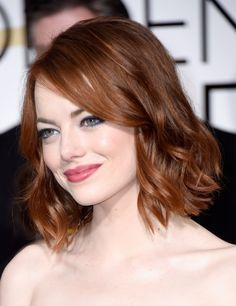 If I ever chop my hair, I'm taking this Emma Stone picture to my stylist because this bob is AWESOME.