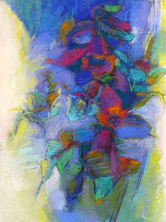 Foxglove, 30x22 pastel on paper by Debora L. Stewart