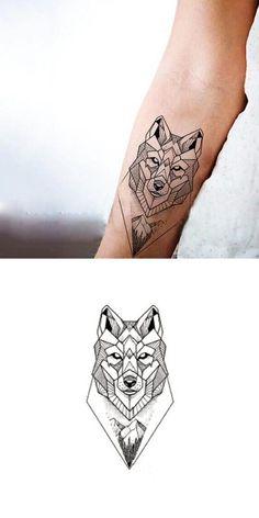 Geometric Wolf Wrist Tattoo Ideas for Women - Cool Unique Fox Animal Designs - kunst - Tattoo Designs For Women Wrist Tattoos Girls, Wolf Tattoos Men, Forearm Tattoos, Body Art Tattoos, Girl Tattoos, Sleeve Tattoos, Fox Tattoo Men, Tattoo For Man, Tattoo Girls