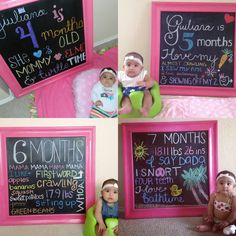 Monthly baby chalkboard to watch your baby grow and record all milestones.