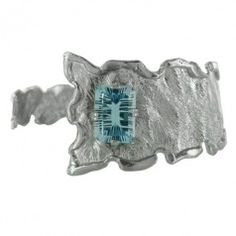 Sterling Silver Sky Blue Topaz Wavy Wrap Bracelet