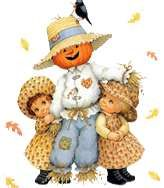 Scarecrow and girls