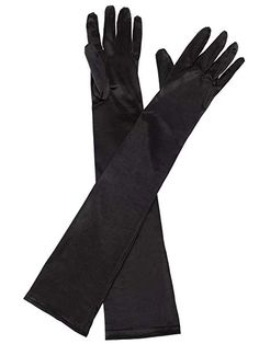"""23/"""" FOREST GREEN STRETCH SATIN COSPLAY PARTY COSTUME OPERA EVENING LONG GLOVES"""