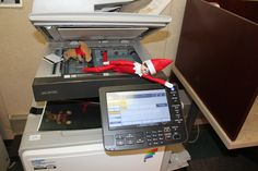Caught using the copy machine! #elfontheshelf All of our locations have copy, print, and scanning capabilities!