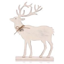White Reindeer/Stag Christmas Decoration