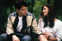 Matthew Broderick, Mia Sara, Alan Ruck, and Jonathan Schmock in Ferris Bueller's Day Off Teen Movies, Iconic Movies, Good Movies, Movies Showing, Movies And Tv Shows, Mia Sara, Life Moves Pretty Fast, Ferris Bueller, Day Off