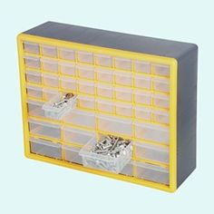 GFORGE 44 Drawer Heavy Duty Plastic Organizer Storage Box Transparent simple-pull drawers Rugged high have an effect on case for sturdiness Overall Storage Drawers, Storage Organization, Plastic Organizer, Drawer Pulls, Decorative Boxes, Home Decor, Decoration Home, Room Decor, Drawer Handles