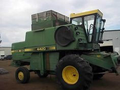 John Deere 4420 combine salvaged for used parts. Call 877-530-4430. We buy salvage farm equipment. 7 salvage yards in the Midwest.http://www.TractorPartsASAP.com