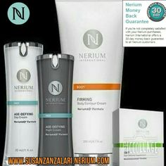 All Nerium products have a 30-day money back guarantee! Try Risk Free Susanzanzalari.theneriumlook.com  REAL SCIENCE *REAL PATENTED PRODUCTS