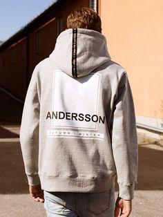 ANDERSSON BELL (UNISEX) Andersson Taping Hoodie atb046(Gray)