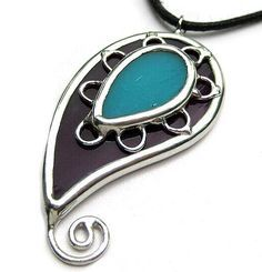 Paisley - Stained glass pendant | Flickr - Photo Sharing!