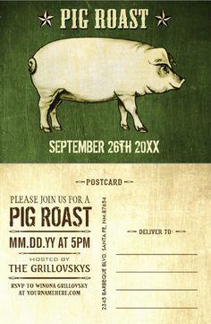 32 best pig roast invitations images on pinterest invitations