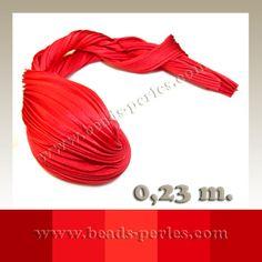 Textil - Shibori Ribbon - Holiday Red (0,23 metros) - Beads Perles Boutique