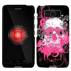 Motorola Droid Mini Pink Skull on Black Phone Case