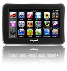 """Wayteq x880 GPS 4,3"""" 8GB + Sygic 3D Teljes Európa Navigációs szoftver"""