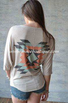 Piace Boutique - Tribal Perfection Top, $33.99 (http://www.piaceboutique.com/tribal-perfection-top/)