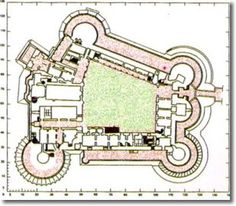 design of sections of the castle