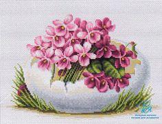 Набор для вышивания крестом Luca-S B105 (Пасхальная открытка)