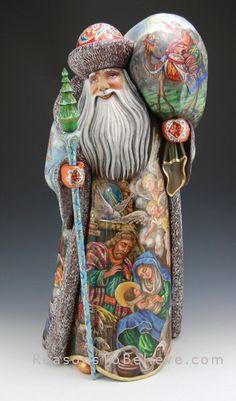 Story of the Nativity, Russian Santa, stunning work.