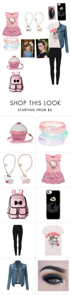 """All grown up"" by gamerskitchenofficial on Polyvore featuring claire's, Hello Kitty, Casetify, MadeWorn, LE3NO, Too Faced Cosmetics, cute and Pink"