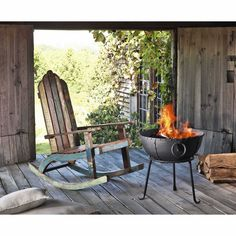 Recycled wood rocking chair | Maisons du Monde