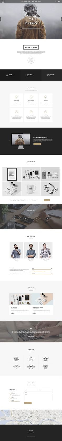 Enigma – Minimal Multi-Purpose WordPress Theme