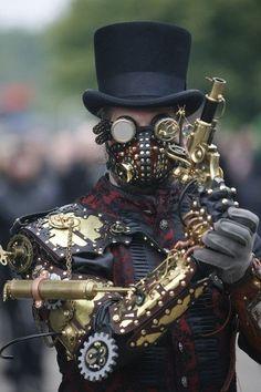 Steampunk / Wave Gothic festival in Leipzig, Germany.