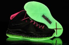 Cheap Womens Nike Lebron X Glow-in-the-Dark Sole Floridians